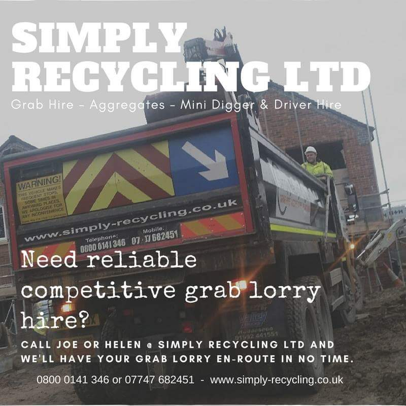 Grab lorry on a customers site in Birminhgam, West Midlands